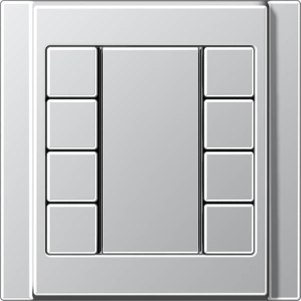 JUNG_A500_aluminium_coloured_F50_4-gang