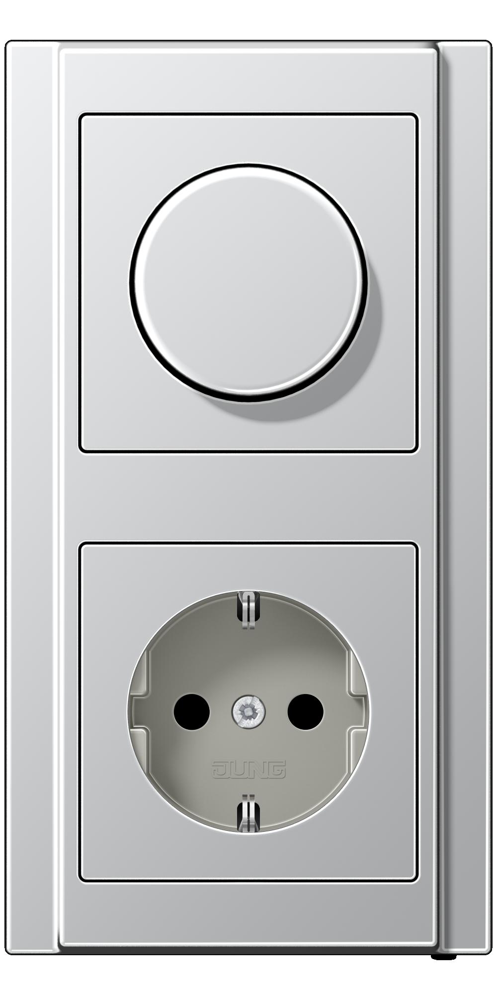 JUNG_A500_aluminium_dimmer-socket