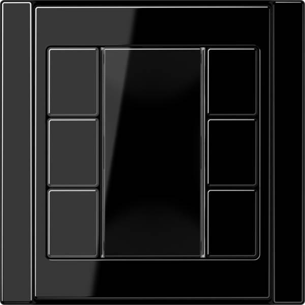 JUNG_A500_black_coloured_F50_3-gang