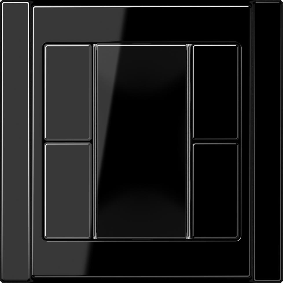 JUNG_A500_black_coloured_F50_2-gang