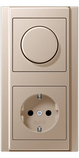 JUNG_A500_champagne_dimmer-socket