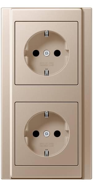 JUNG_A500_champagne_socket-socket