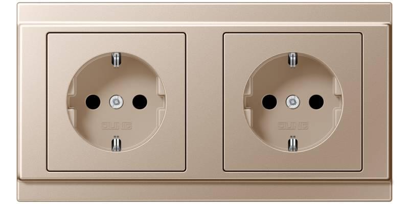 JUNG_A500_champagne_socket-socket_H