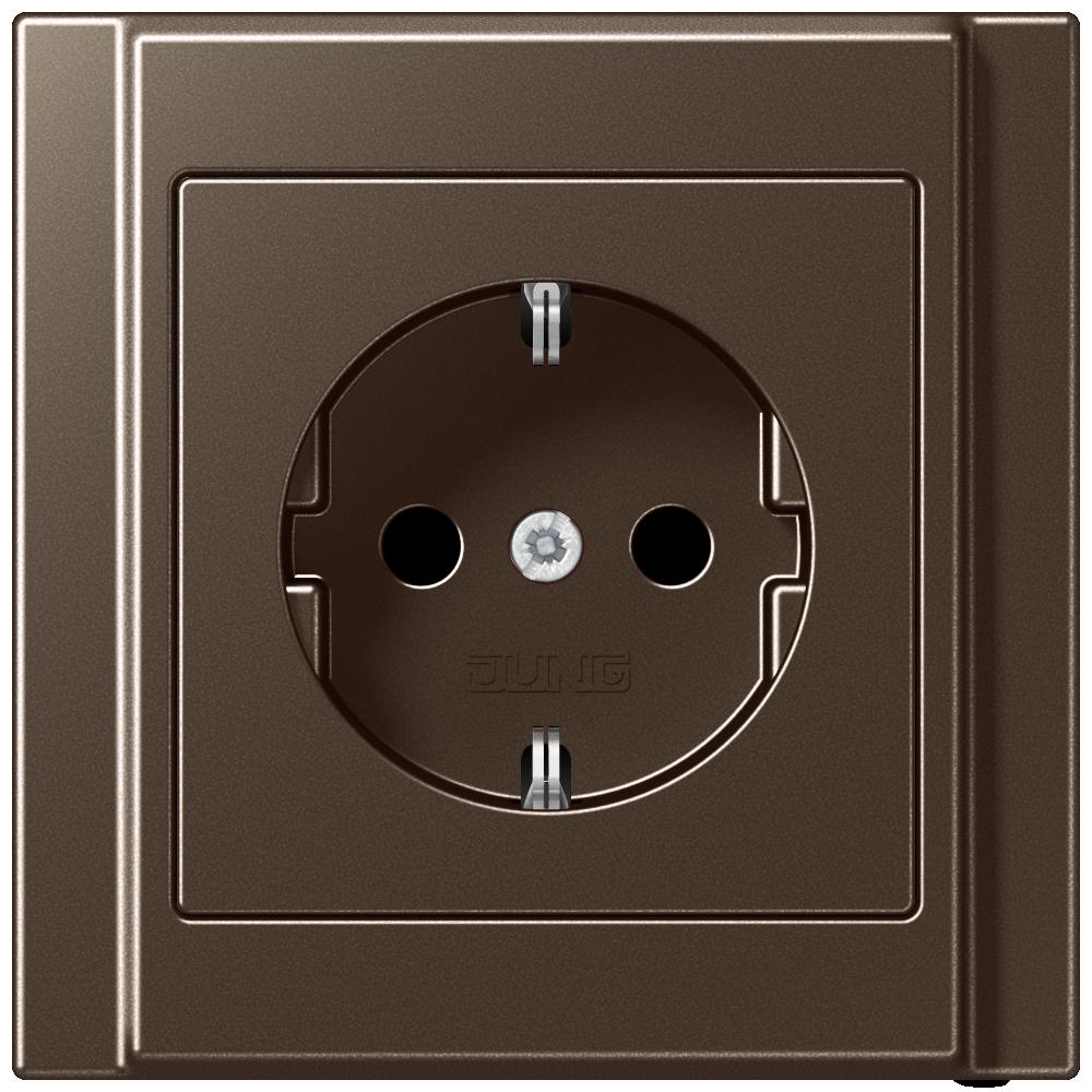 JUNG_A500_mocha_socket