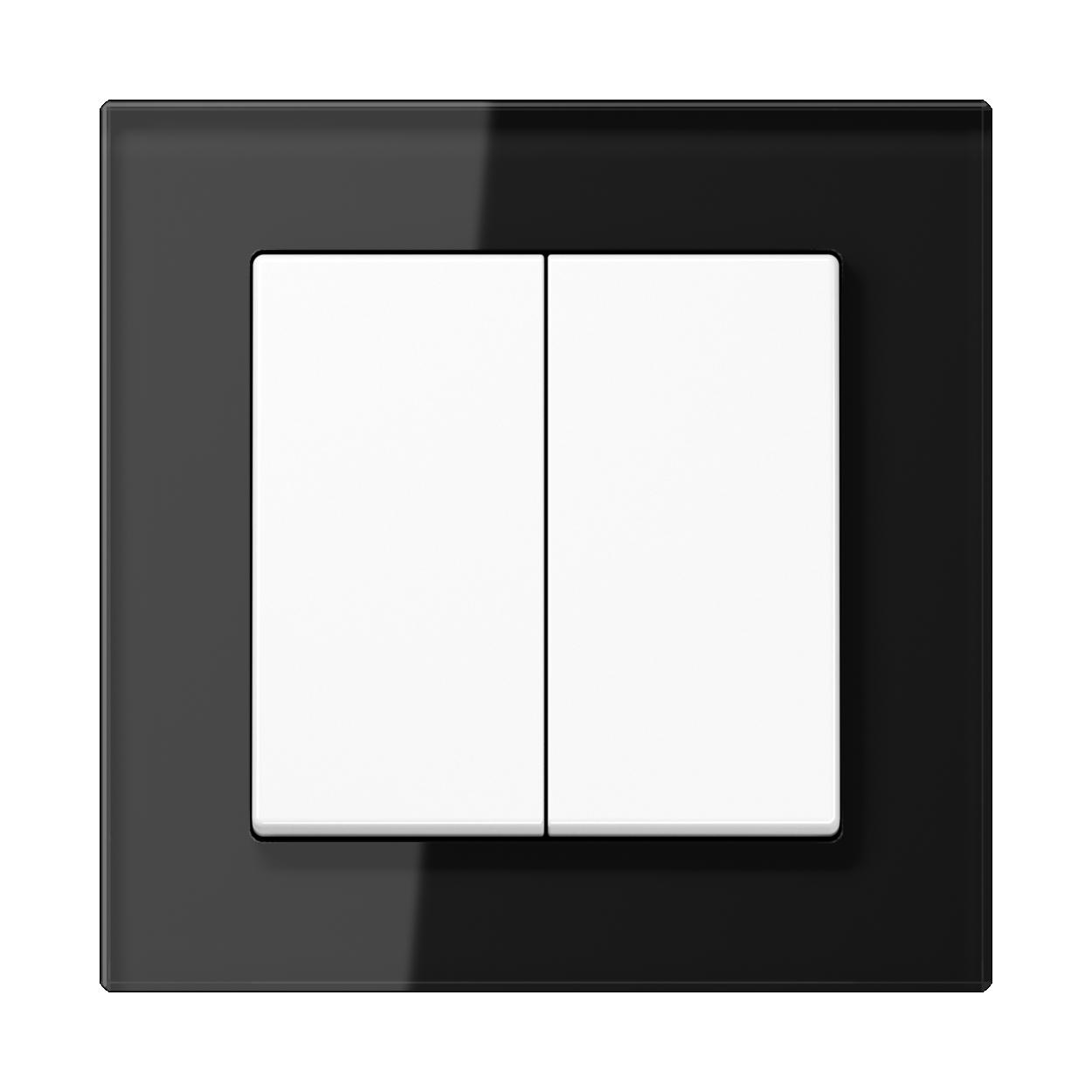 JUNG_AC_GL_black_2-gang-switch