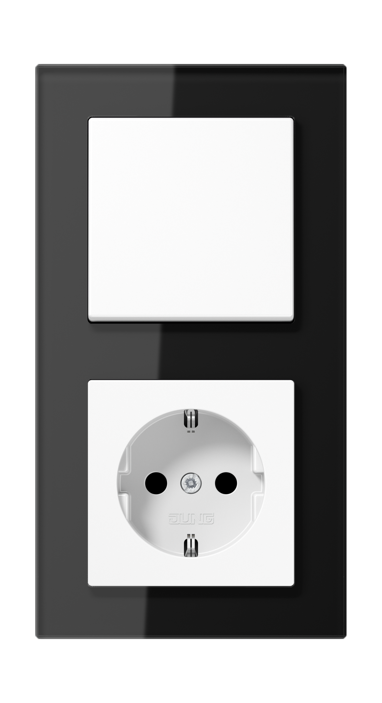JUNG_AC_GL_black_switch-socket