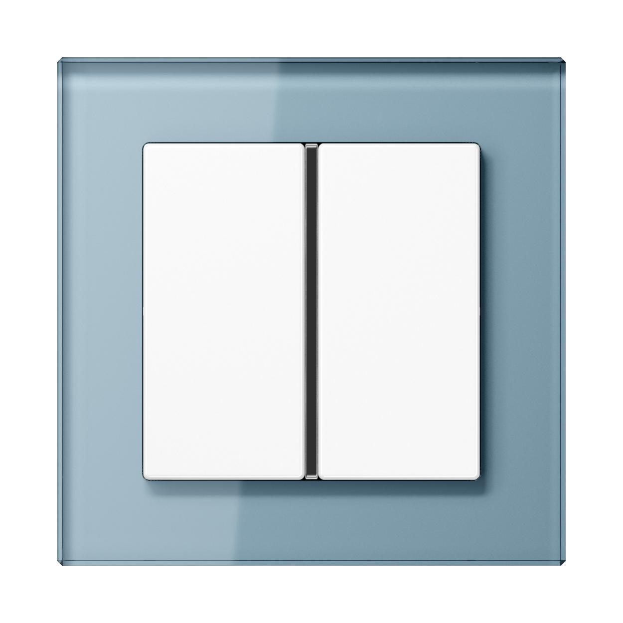 JUNG_AC_GL_blue-grey_1button