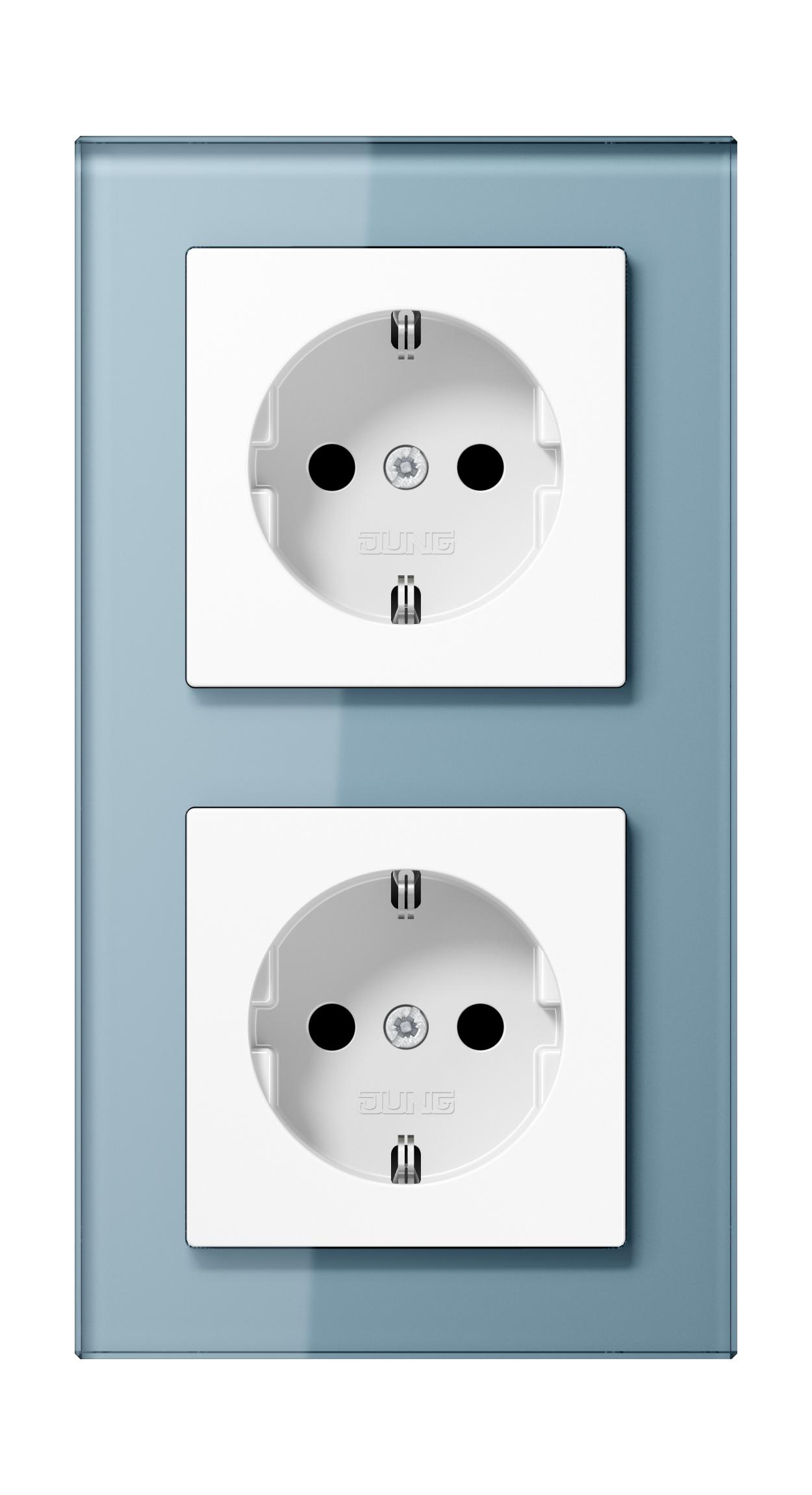 JUNG_AC_GL_blue-grey_socket-socket