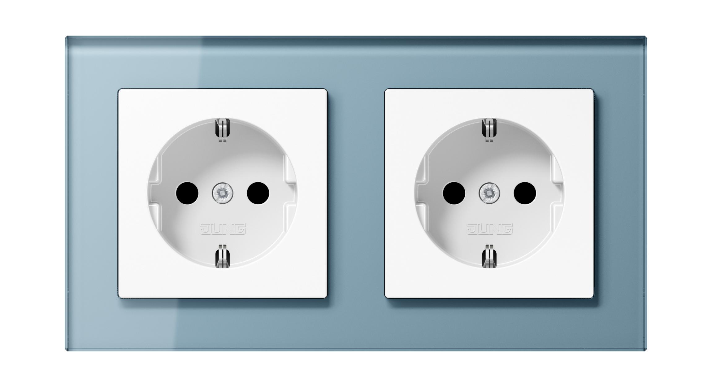 JUNG_AC_GL_blue-grey_white_socket-socket_H