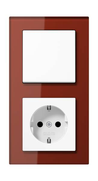 JUNG_AC_GL_red_switch-socket