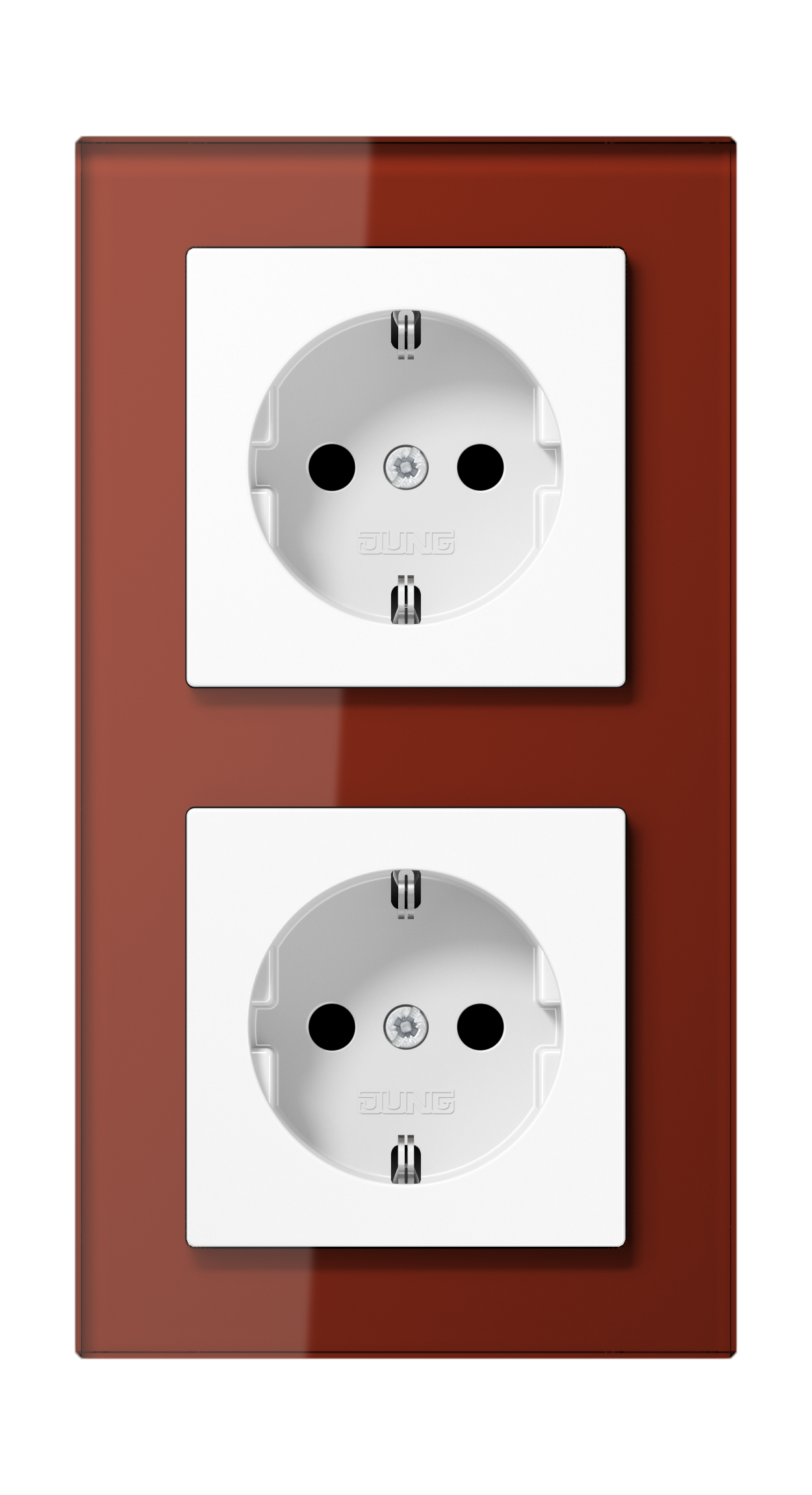 JUNG_AC_GL_red_socket-socket
