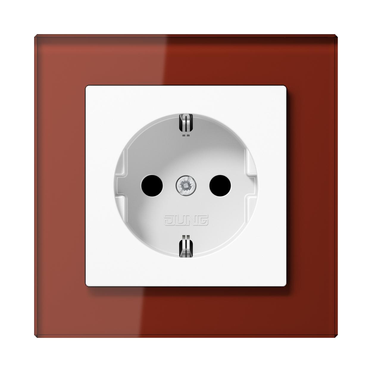 JUNG_AC_GL_red_socket