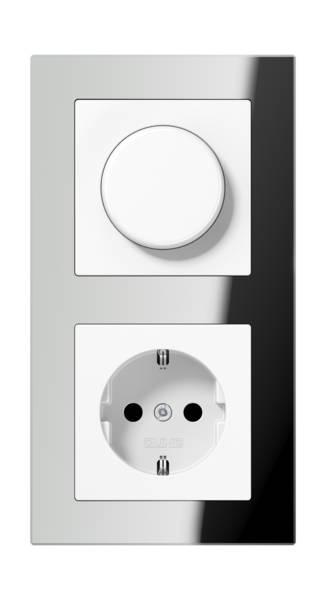 JUNG_AC_GL_silver_dimmer-socket