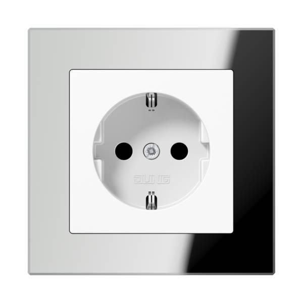 JUNG_AC_GL_silver_socket