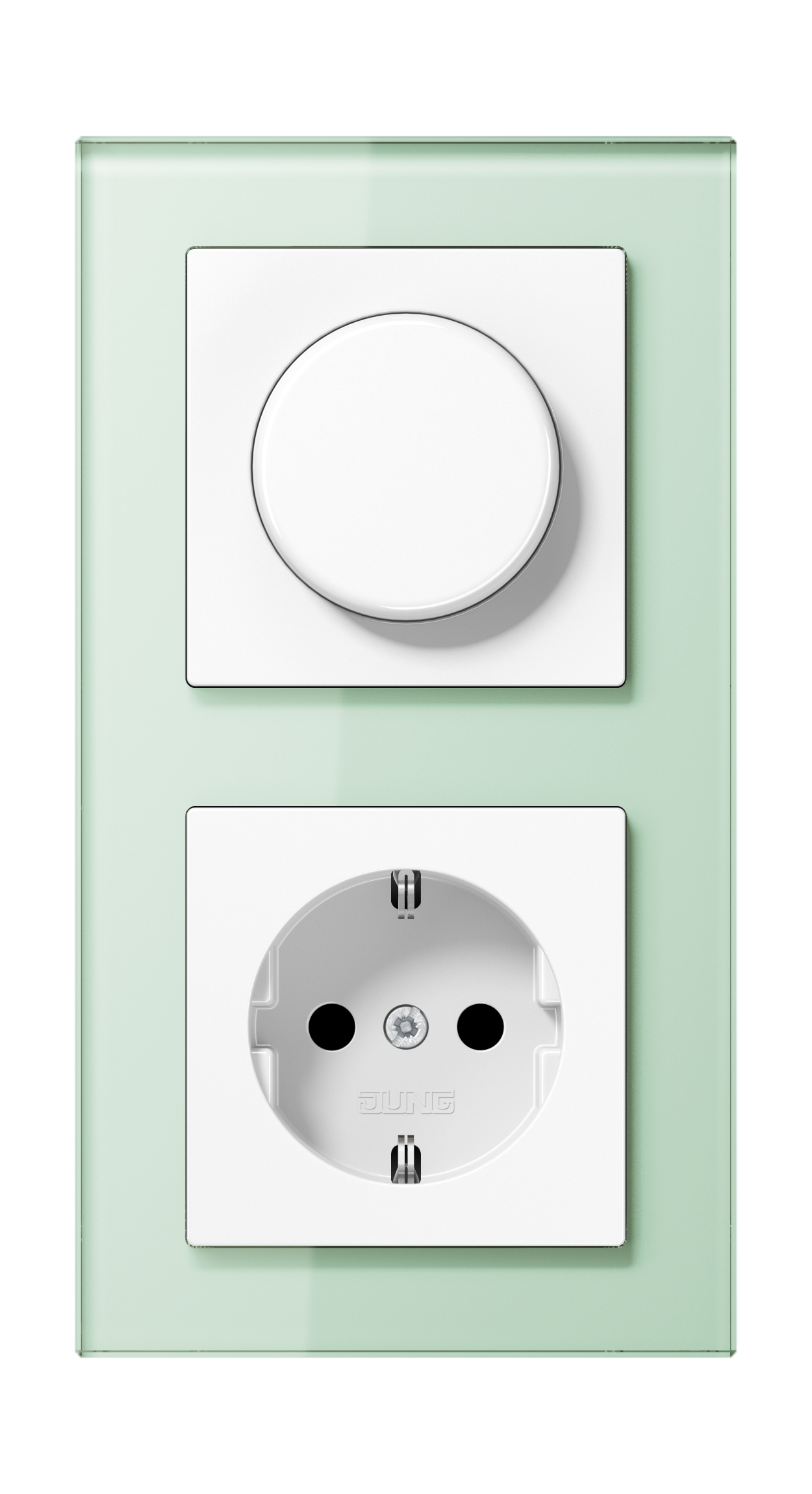 JUNG_AC_GL_soft-white_dimmer-socket
