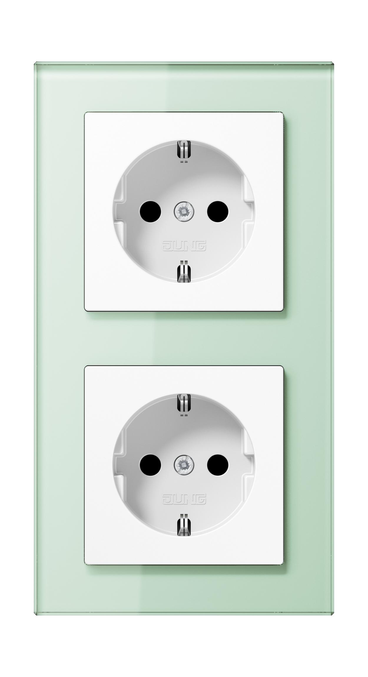 JUNG_AC_GL_soft-white_socket-socket