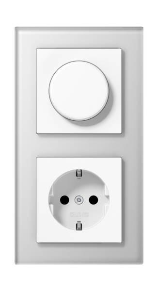 JUNG_AC_GL_white_dimmer-socket
