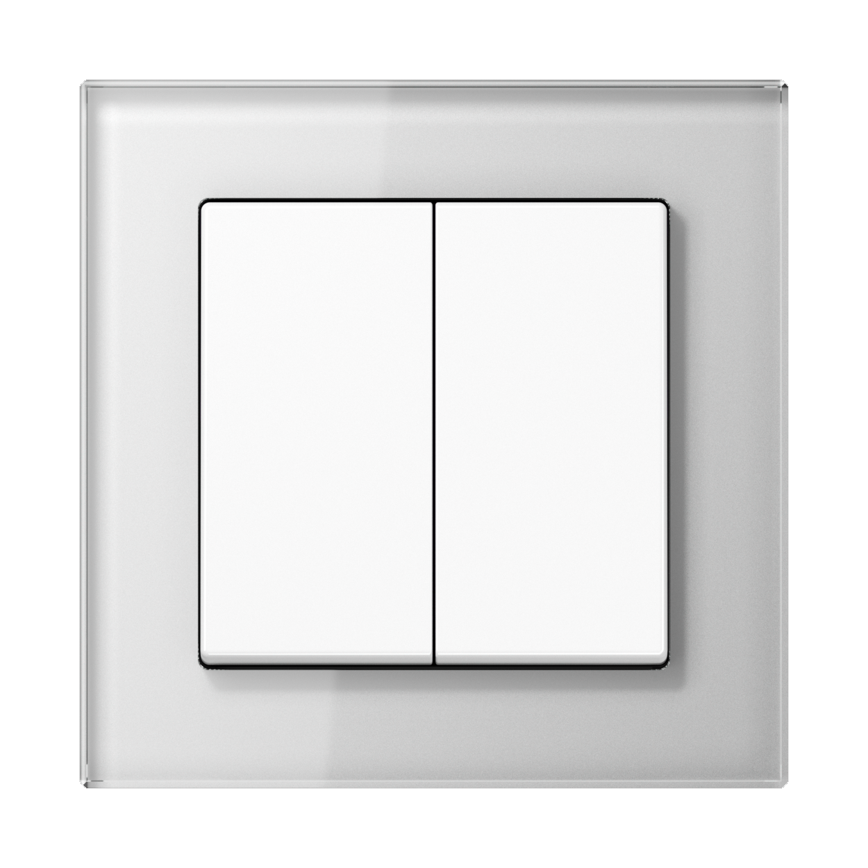 JUNG_AC_GL_white_2-gang-switch