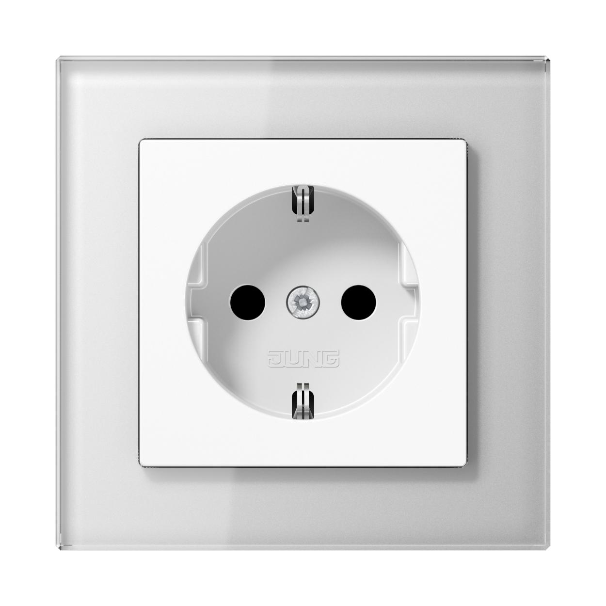 JUNG_AC_GL_white_socket