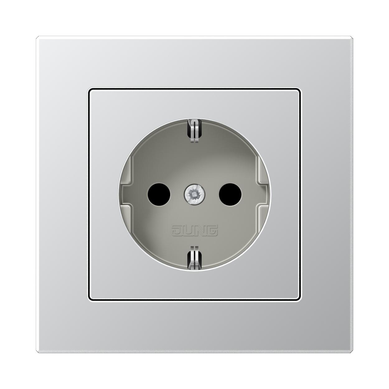 JUNG_AC_aluminium_socket