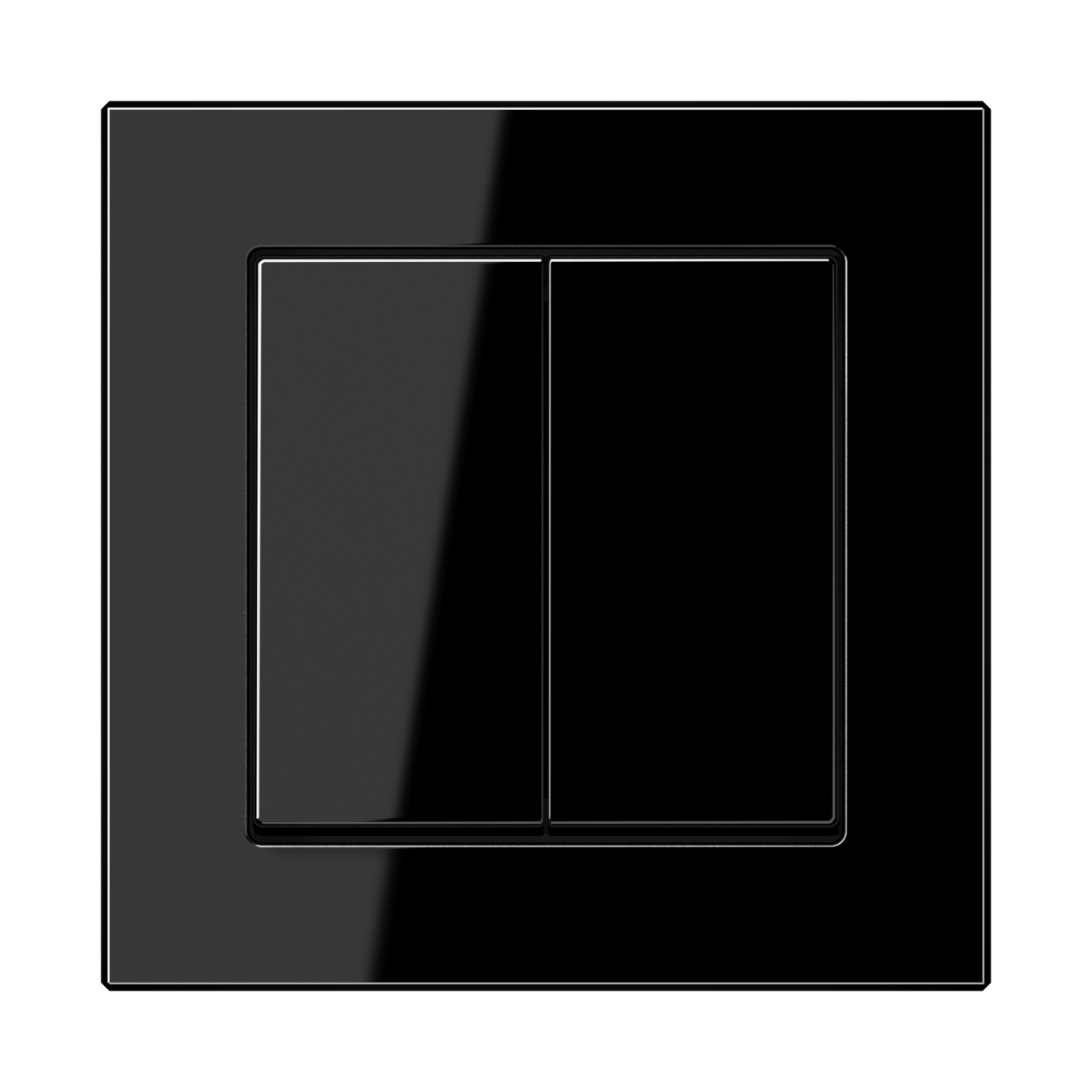 JUNG_AC_black_2-gang-switch