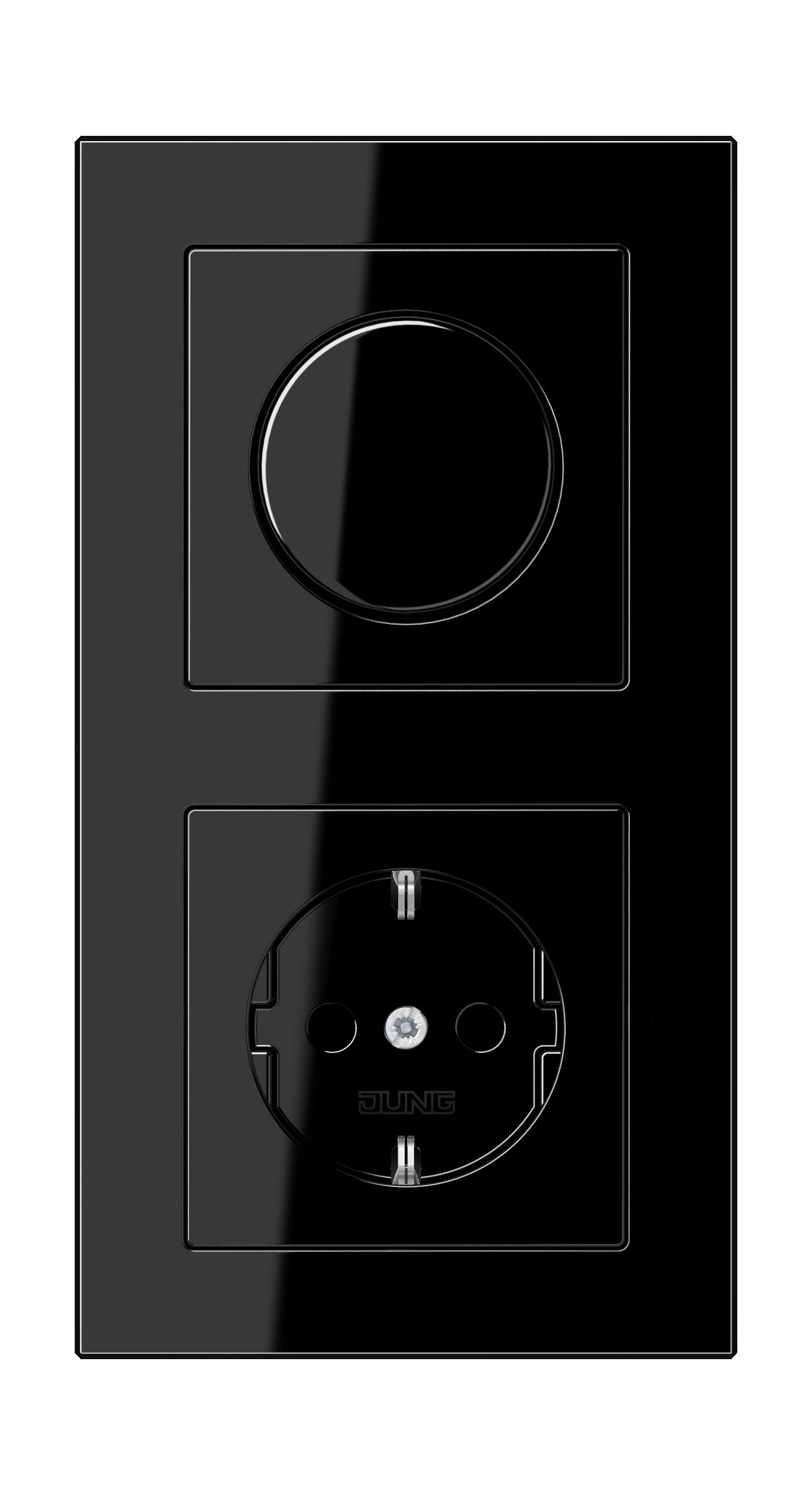 JUNG_AC_black_dimmer-socket
