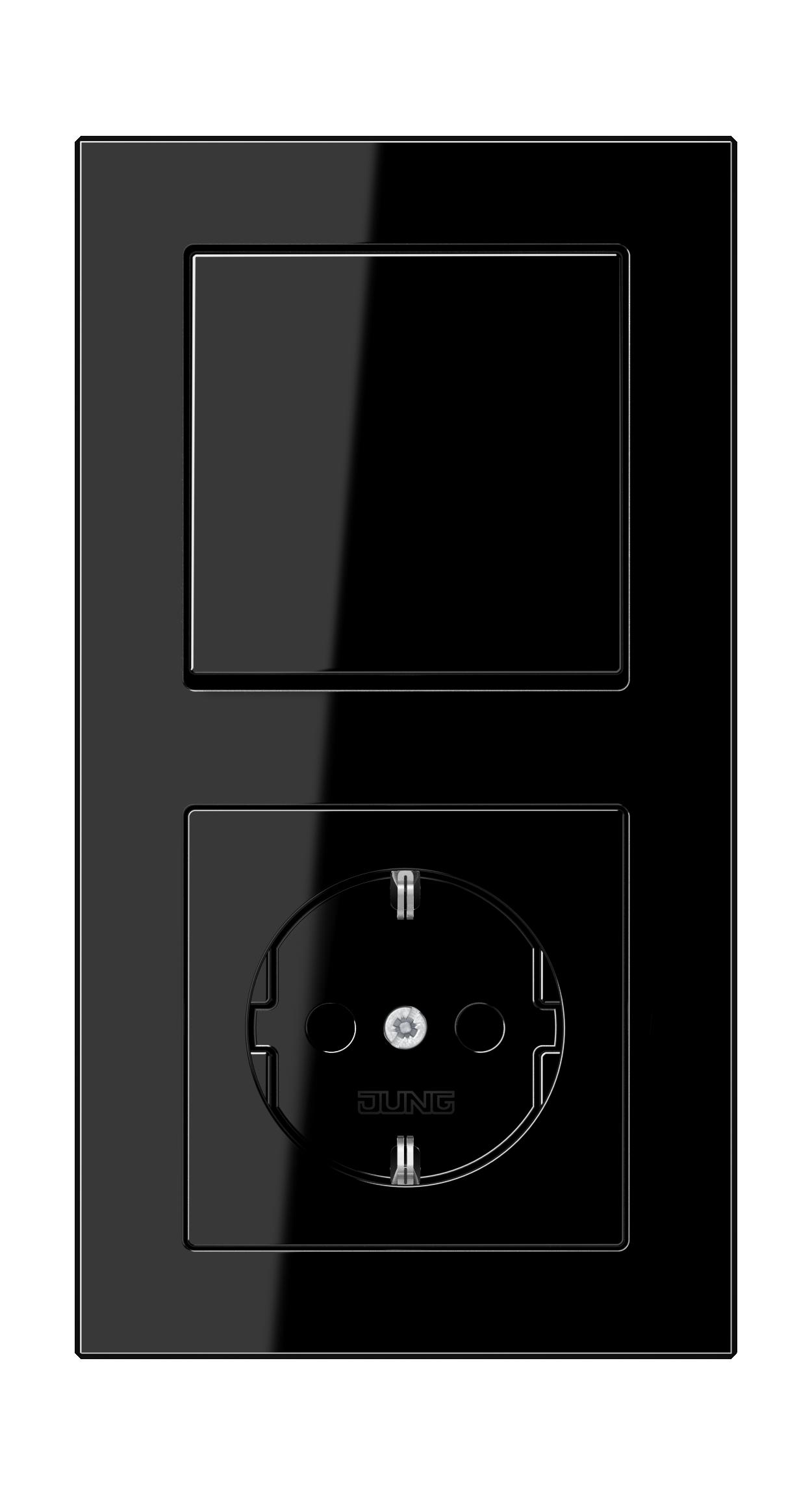 JUNG_AC_black_switch-socket