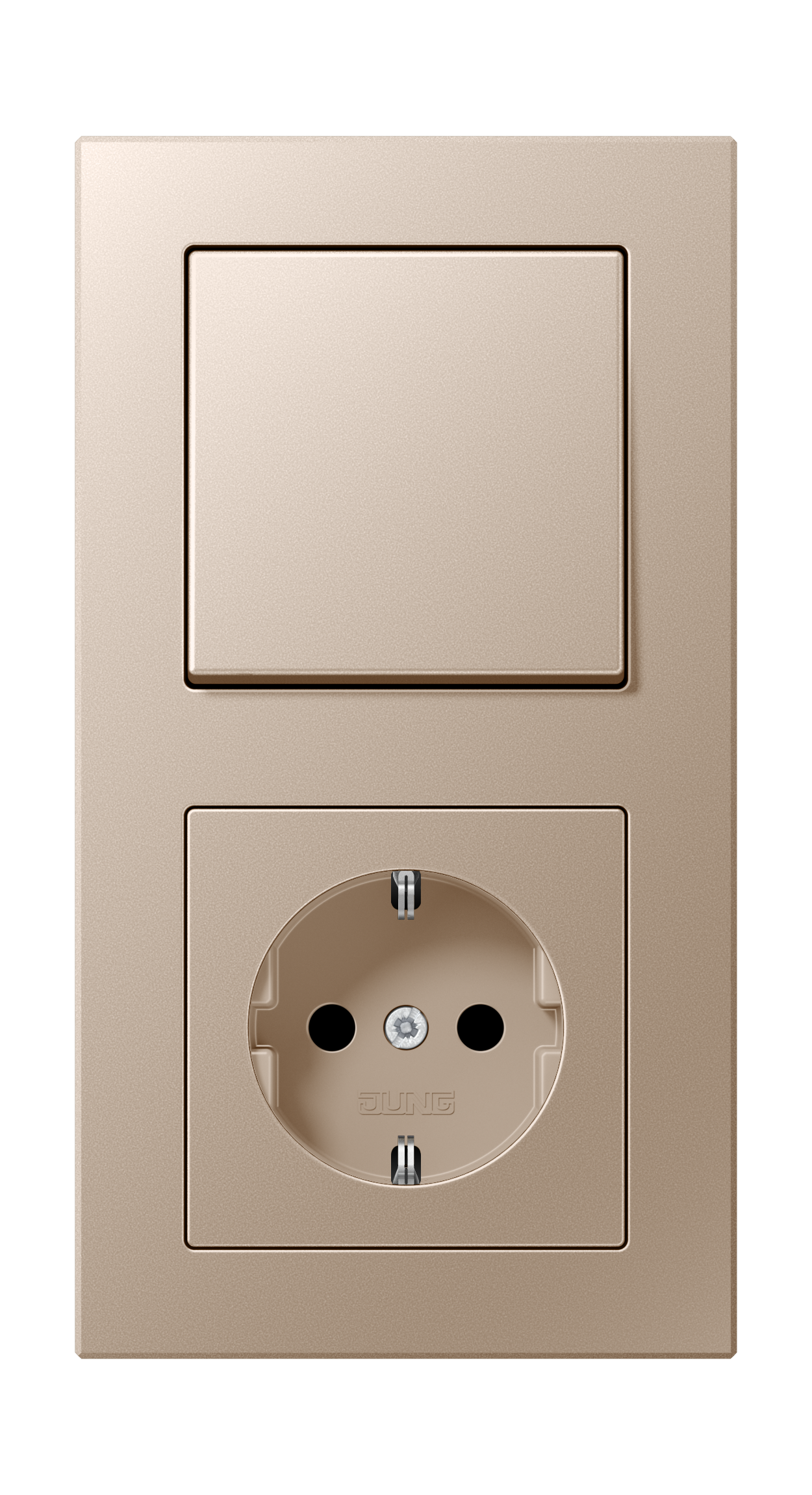 JUNG_AC_champagne_switch-socket