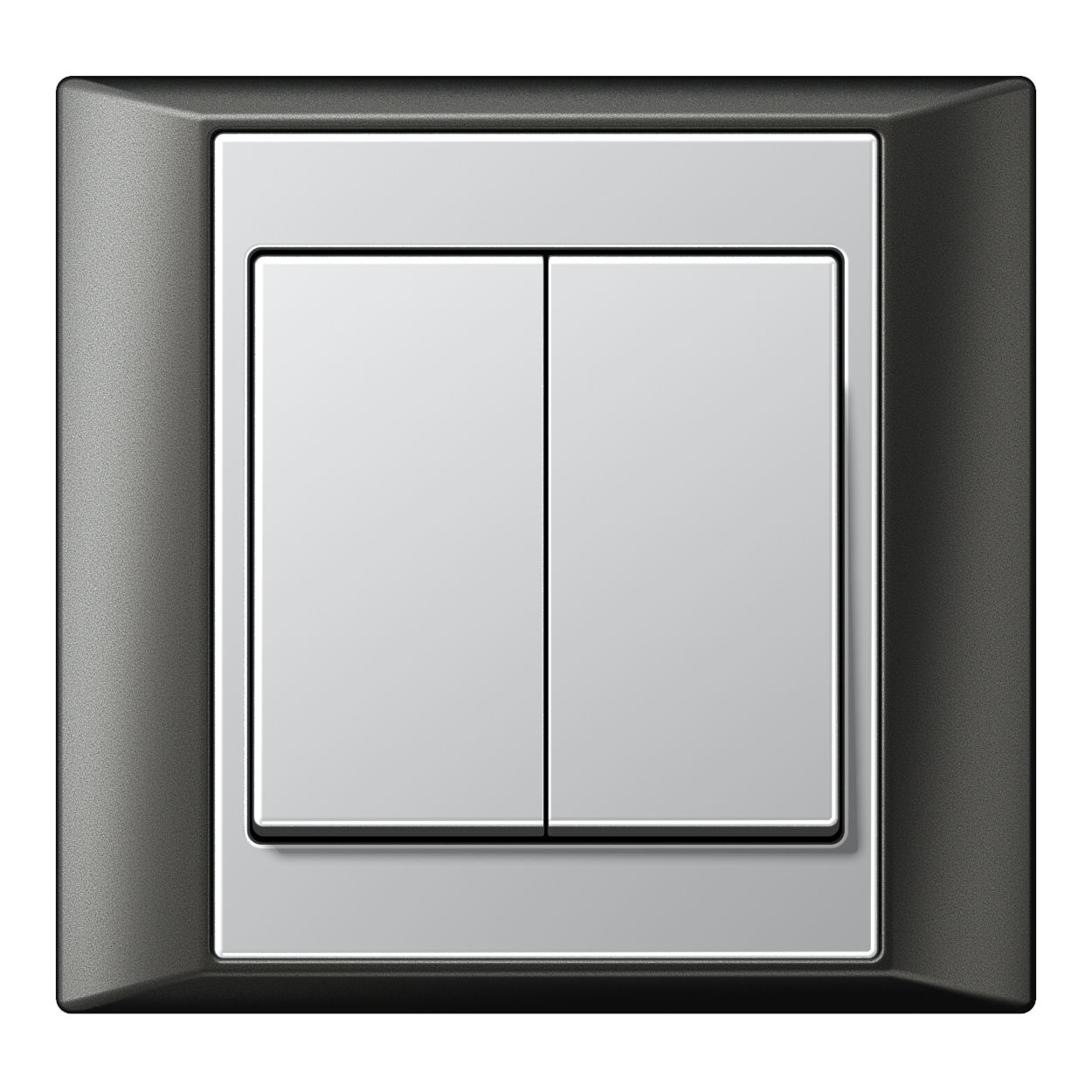JUNG_Aplus_anthracite_aluminium_2-gang-switch