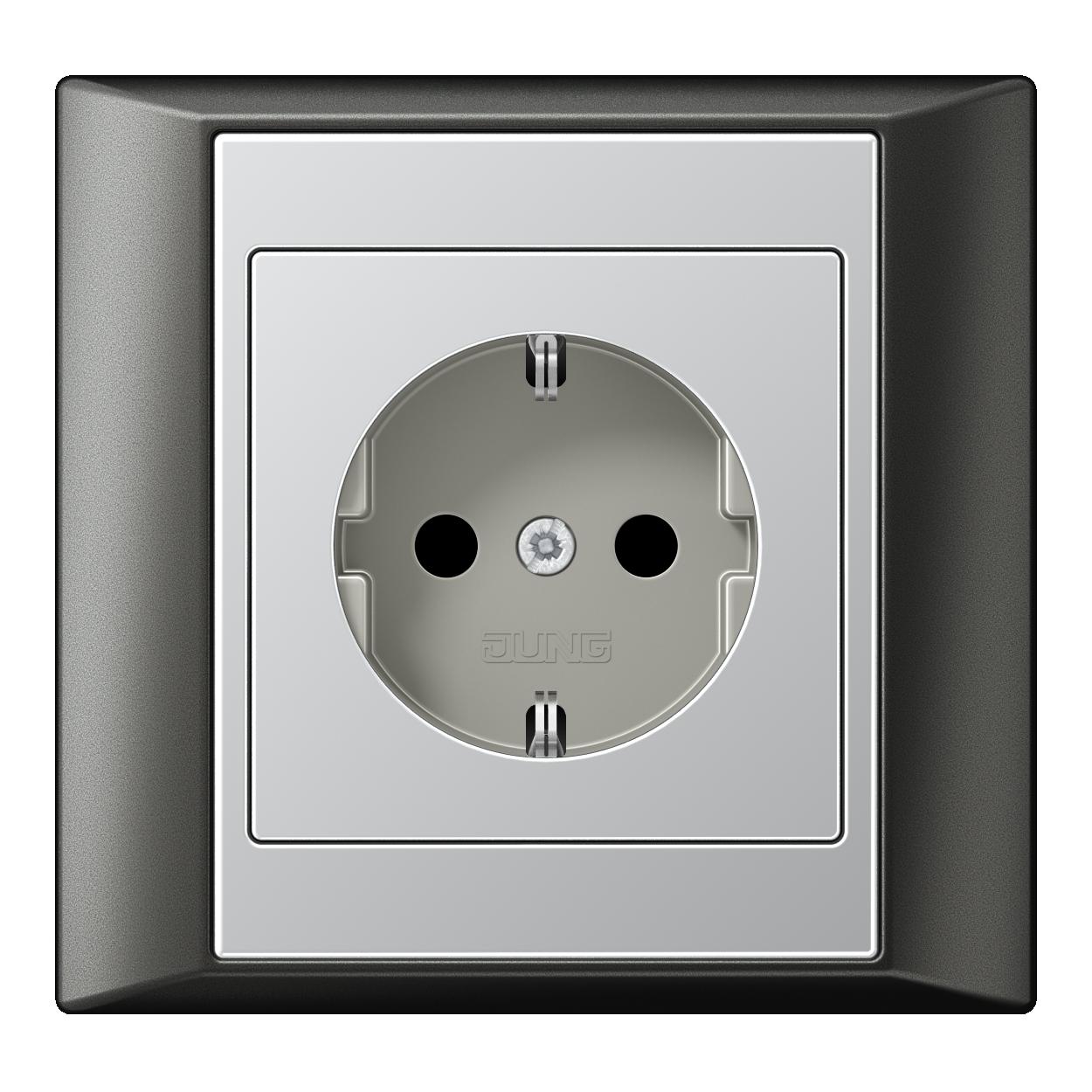 JUNG_Aplus_anthracite_aluminium_socket