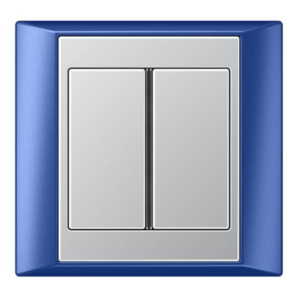 JUNG_Aplus_blue_aluminium_2button