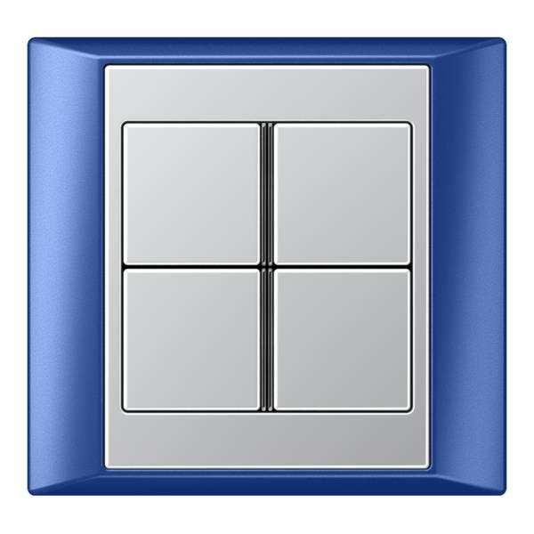 JUNG_Aplus_blue_aluminium_4button