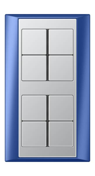 JUNG_Aplus_blue_aluminium_8button
