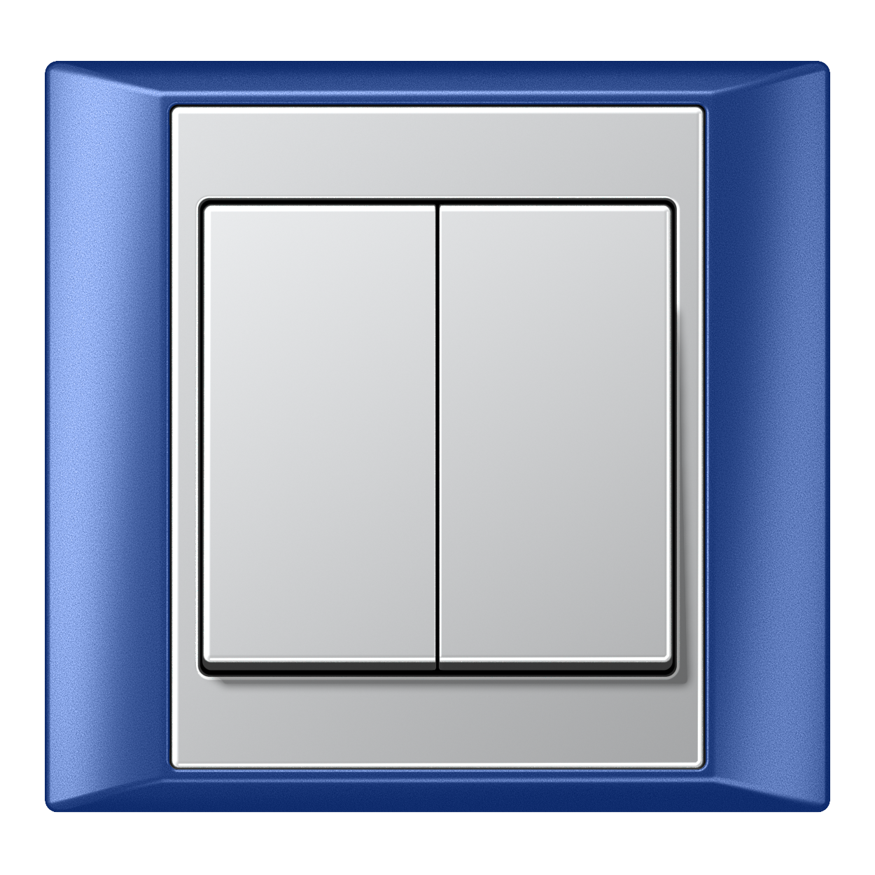 JUNG_Aplus_blue_aluminium_2-gang-switch