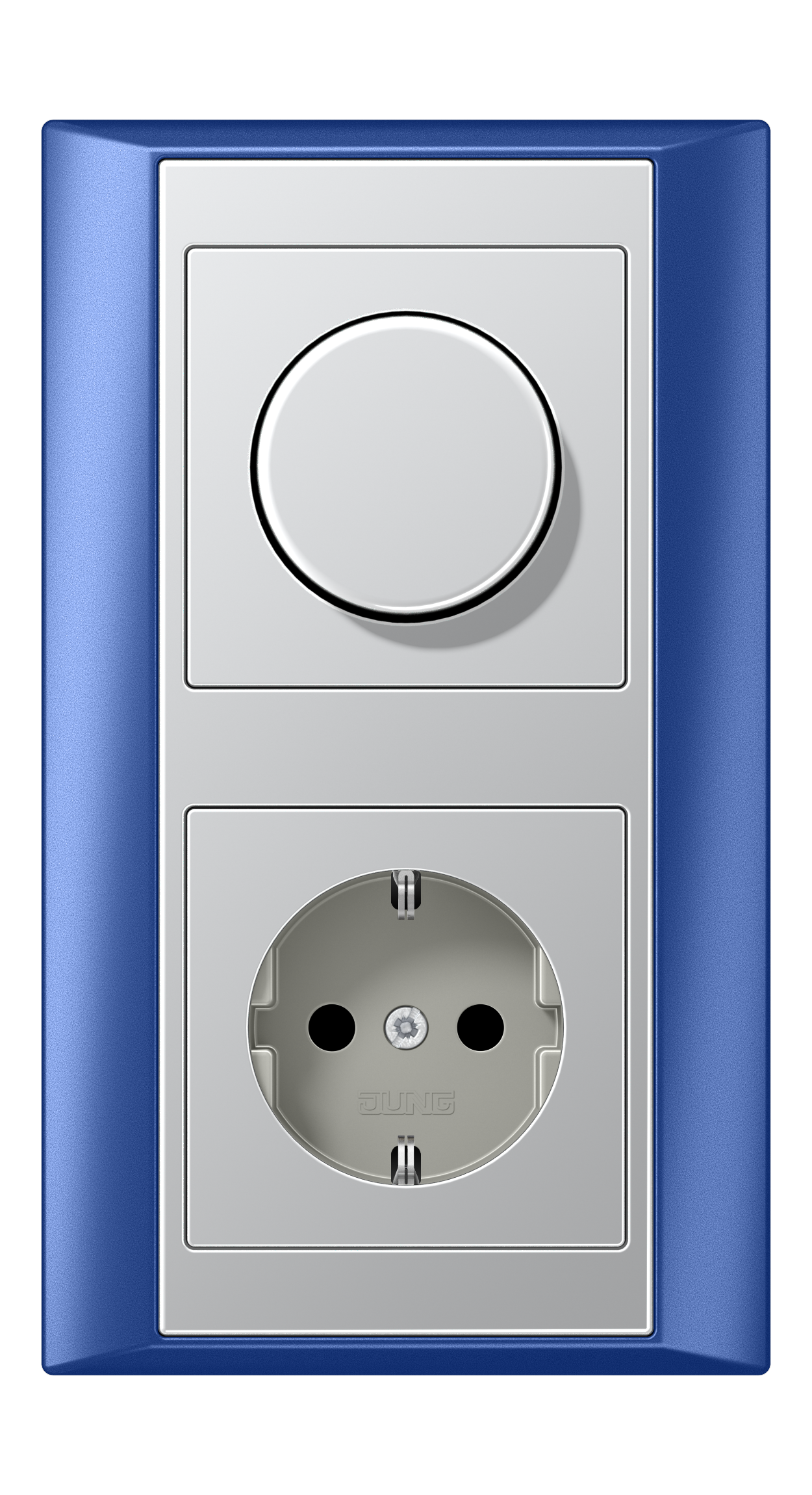 JUNG_Aplus_blue_aluminium_dimmer-socket