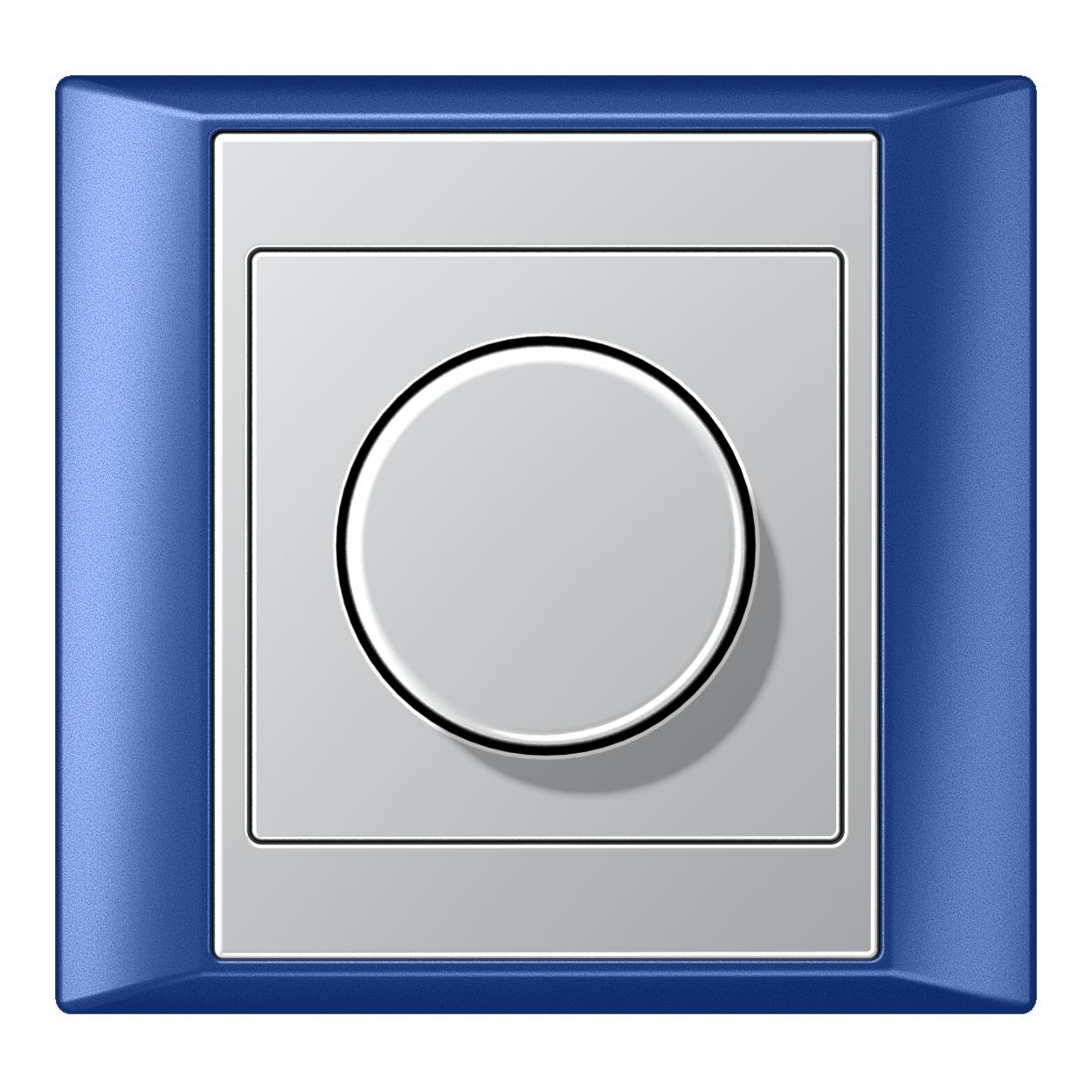 JUNG_Aplus_blue_aluminium_dimmer