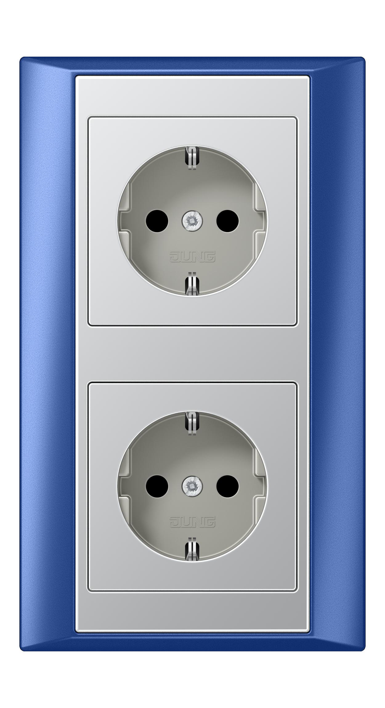 JUNG_Aplus_blue_aluminium_socket-socket