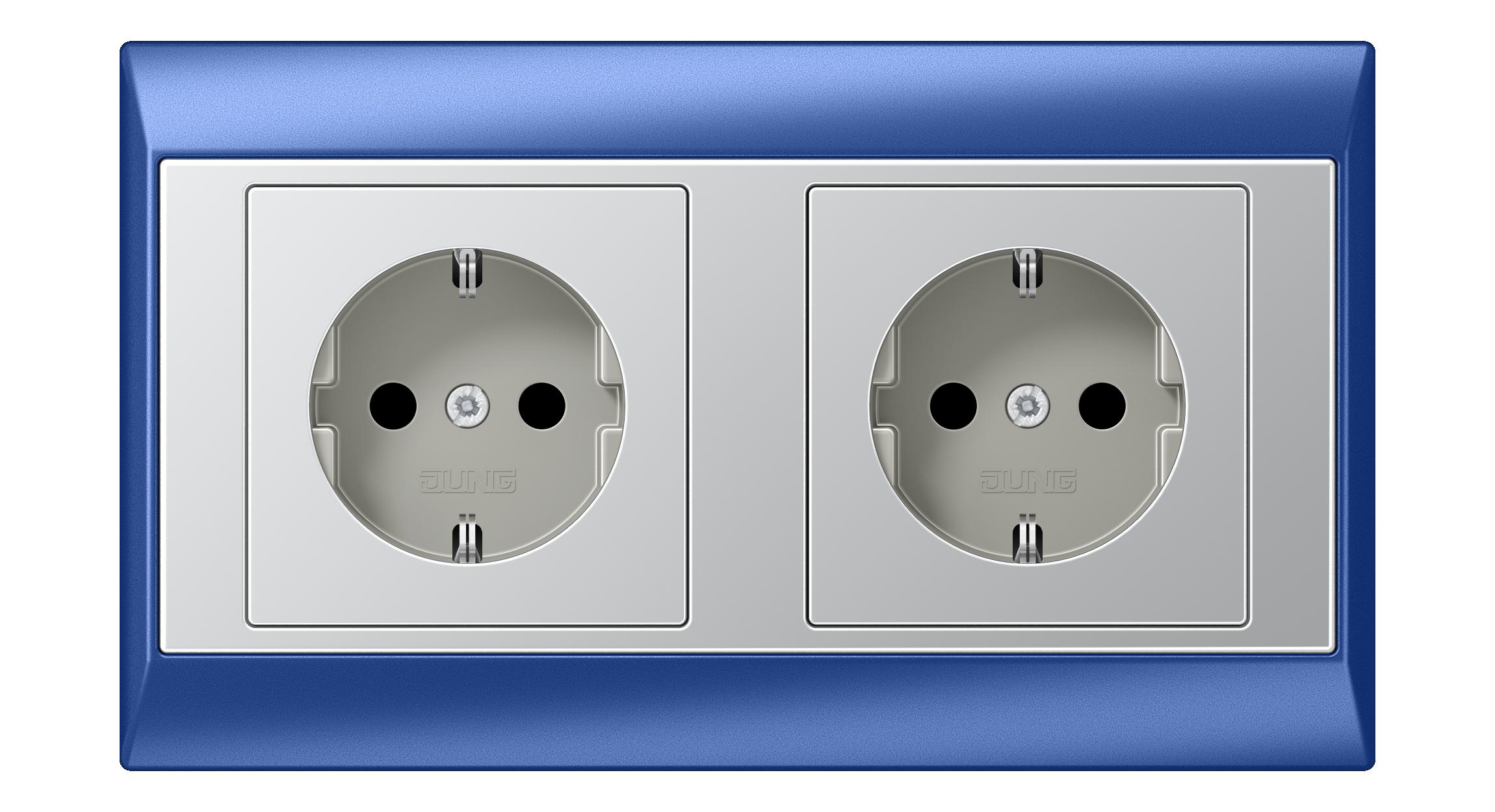 JUNG_Aplus_blue_aluminium_socket-socket_H