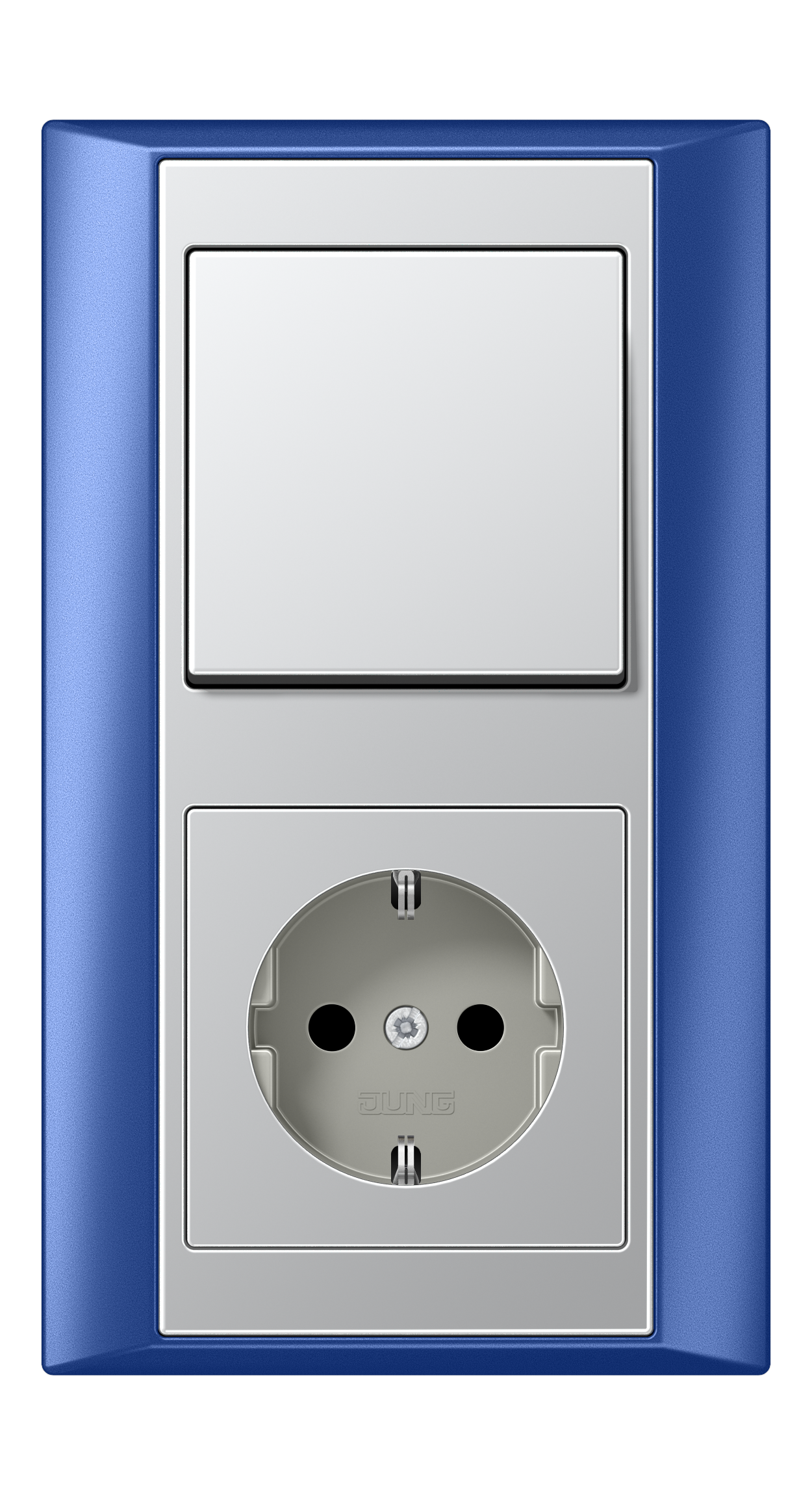 JUNG_Aplus_blue_aluminium_switch-socket