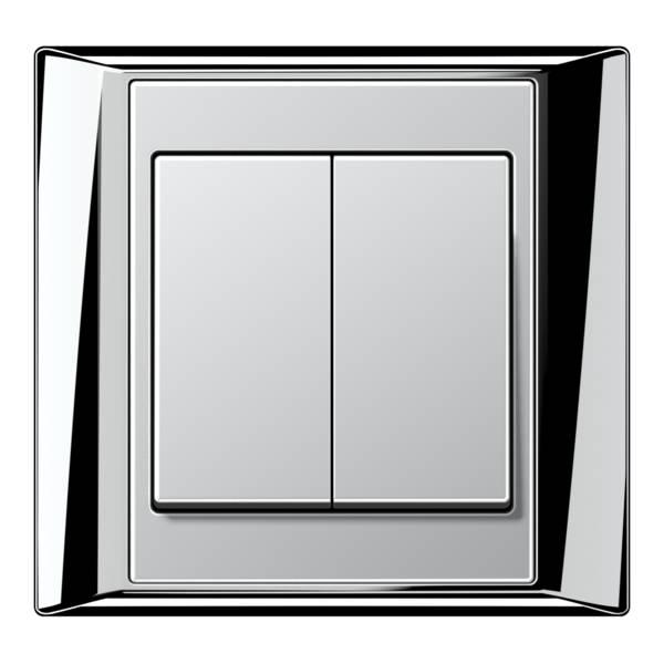 JUNG_Aplus_chrome_aluminium_2-gang-switch
