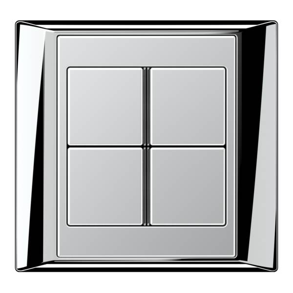JUNG_Aplus_chrome_aluminium_4button