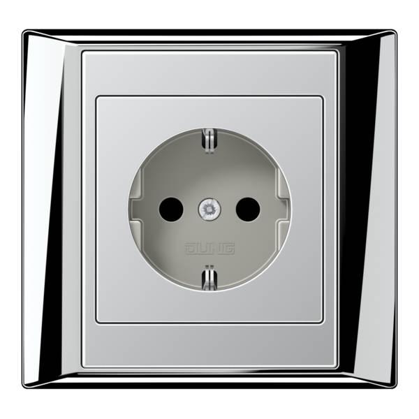 JUNG_Aplus_chrome_aluminium_socket