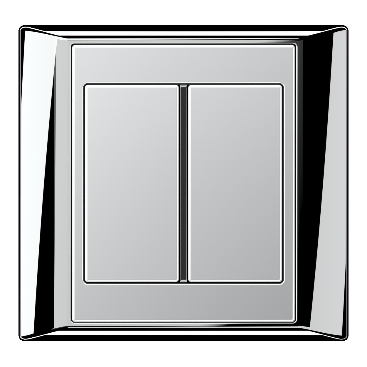 JUNG_Aplus_chrome_aluminium_1button
