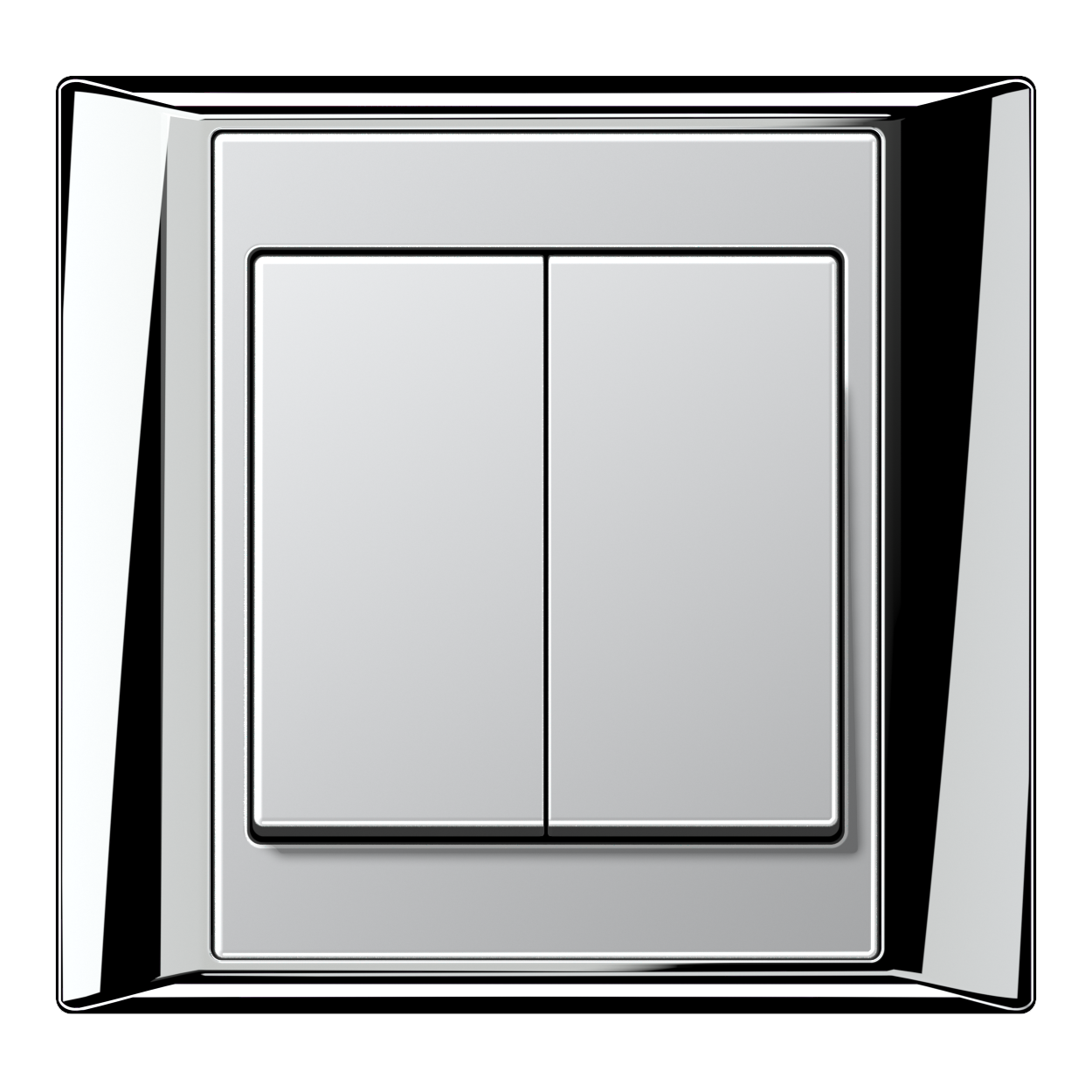 JUNG_Aplus_chrome_aluminium_2-gang-switch