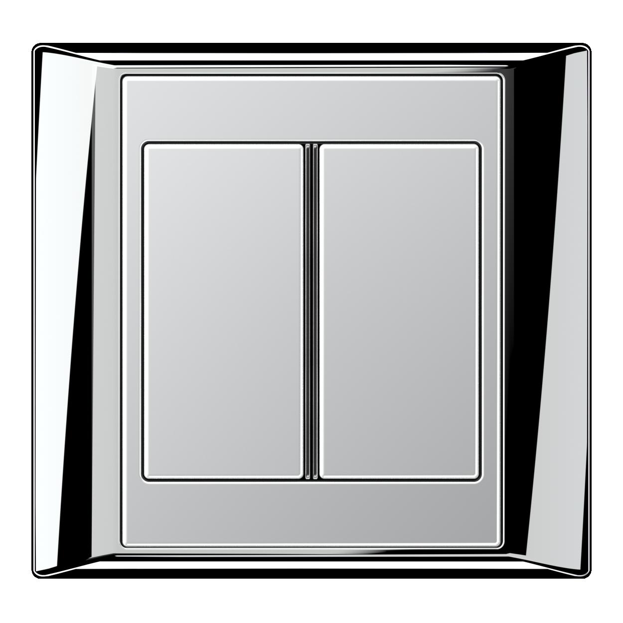 JUNG_Aplus_chrome_aluminium_2button