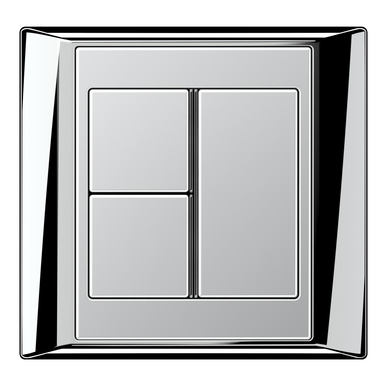 JUNG_Aplus_chrome_aluminium_3button