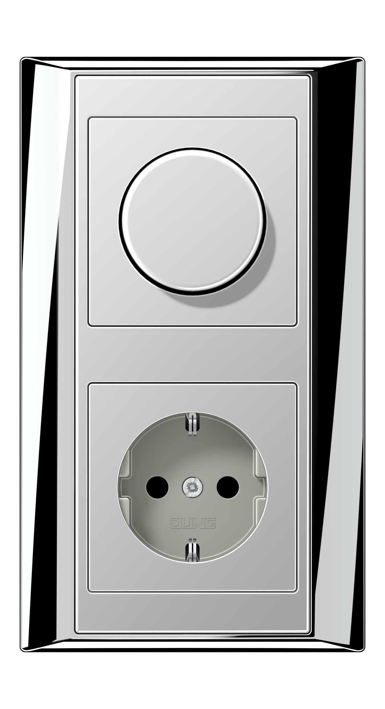 JUNG_Aplus_chrome_aluminium_dimmer-socket