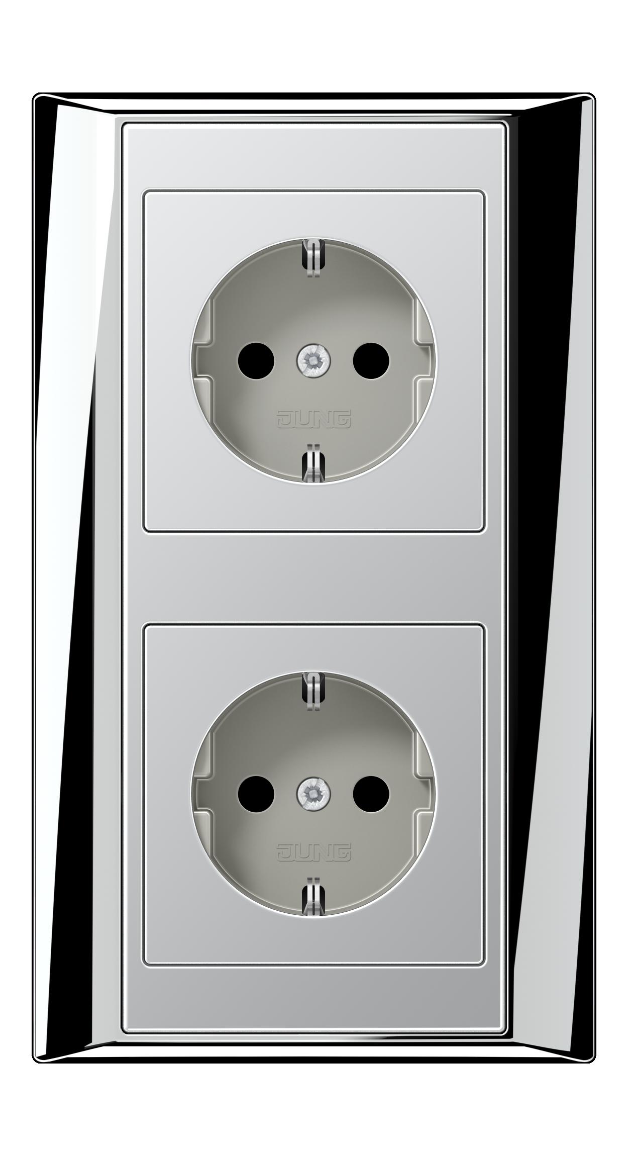 JUNG_Aplus_chrome_aluminium_socket-socket