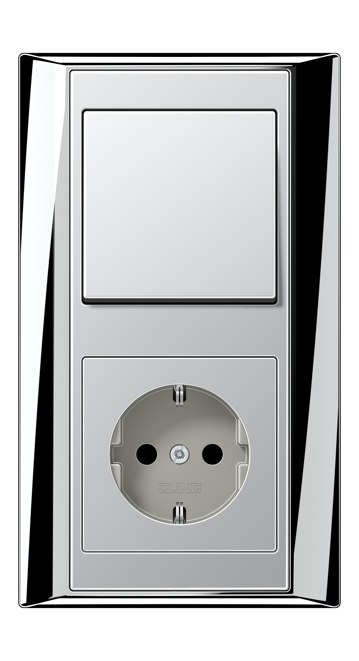 JUNG_Aplus_chrome_aluminium_switch-socket