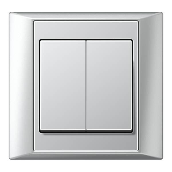 JUNG_Aplus_aluminium_aluminium_2-gang-switch